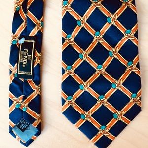 Fendi Men's 100% Silk Neck Tie
